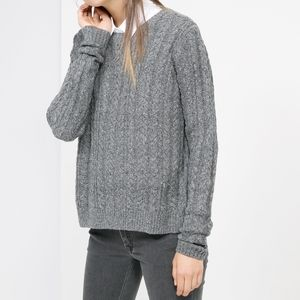 Mango Cable Knit Sweater